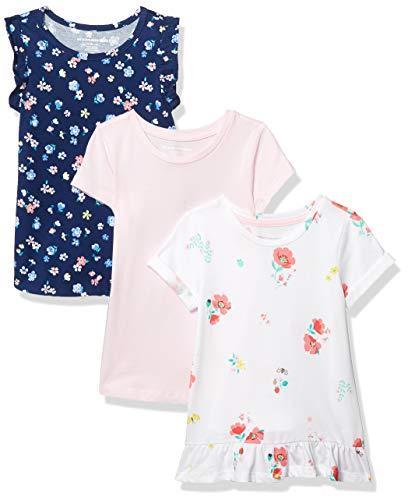 Amazon Essentials Girl 3 Pack Tunic dresses, Blume., L (134-140 CM)