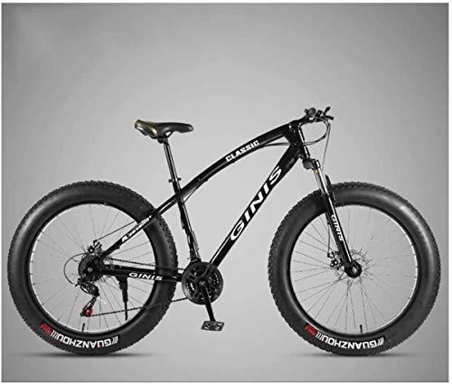 DIMPLEYA MTB Marco de Acero al Carbono de 26 Pulgadas de Alta montaña Fat Tire Bike Trail, Mujeres Disco, Verde, Radi.