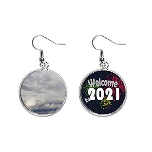 Nubes oscuras nubes nubladas con gran viento clima pendiente pendiente joyería 2021 bendición