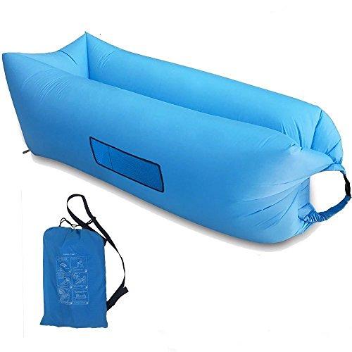 Home-Neat Outdoor Gonflable Lounger Air Portable imperméable Air Balloon Air Bag, Sac en Nylon de Tissu Bean, Sofa canapé d'air pour Camping, Plage, Parc, arrière-Cour (Bleu)