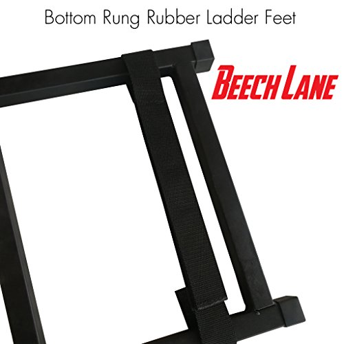 Beech Lane Pickup Truck Tailgate Ladder - Universal Fit, Stainless Steel Self Drilling Hex Screws for Easy Install, Durable Aluminum Step Grip Plates, and Sturdy Rubber Ladder Feet Illinois