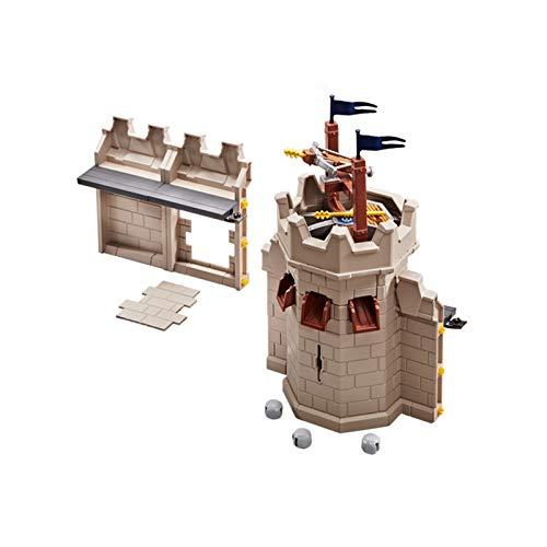 PLAYMOBIL 9840 - Turmerweiterung mit Steinabwurf für die 70220 Große Burg von Novelmore (Folienverpackung)