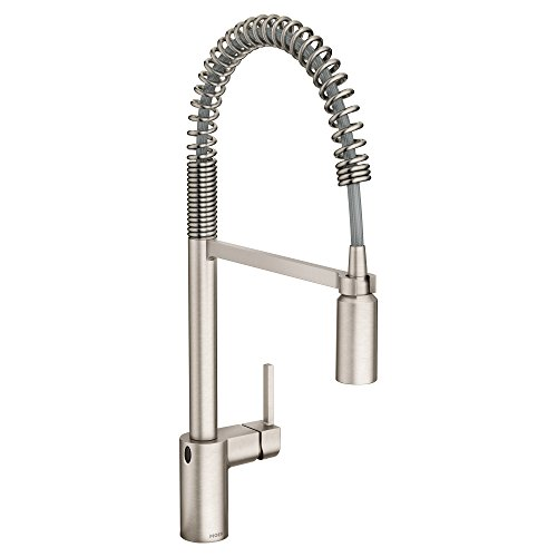 Moen 5923EWSRS Align Motionsense Wave Sensor Touchless One-Handle High Arc Spring Pre-Rinse Pulldown Kitchen Faucet, Spot Resist Stainless
