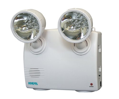 Ideal Security Inc. SK636 Emergency Power Failure Light 2 Adjustable Heads, 60 Lumens LED,...