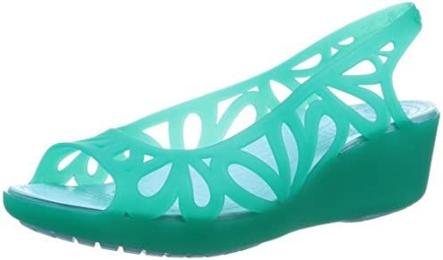 Crocs Womens Adrina III Mini Wedge Sandal Shoes