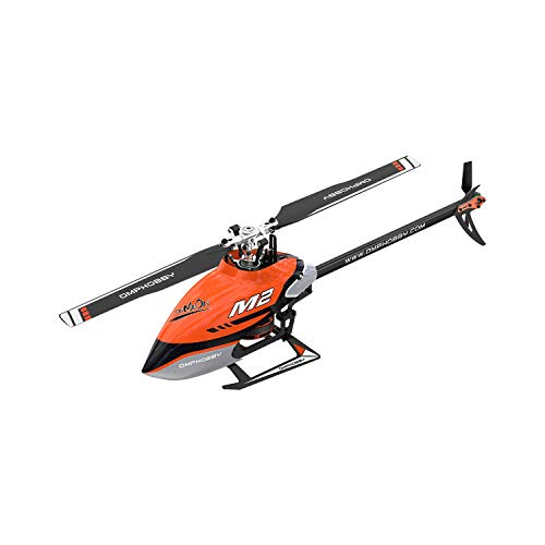OMPHOBBY M2 V2 Doppelbürstenloser Motor 3D-Hubschrauber mit Direktantrieb-BNF (Charm Orange)