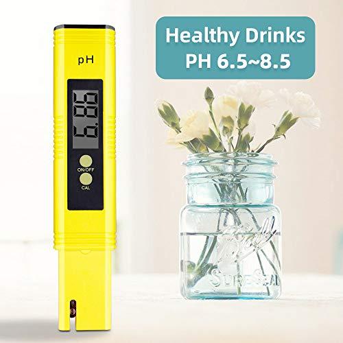 PH Tester 0.01 Digital Hochpräziser Mini Wasserzähler Qualitätsanalysator für Aquarium, Schwimmbad, Trinkwasser