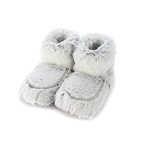 Warmies microwavable French Lavender Scented Gray Marshmallow Boots