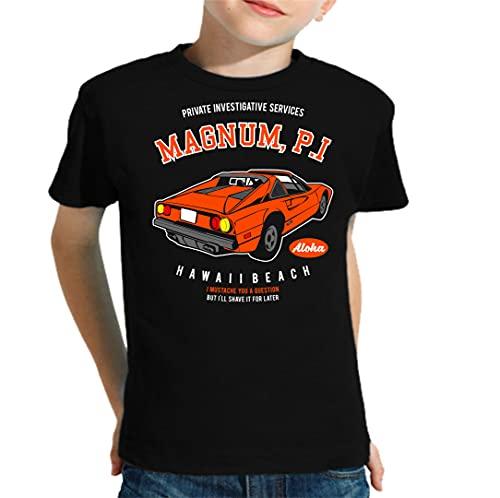 The Fan Tee Camiseta de NIÑOS Coche Divertida Retro 80 Magnum TV 026 11-12 Años