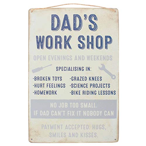 Wall Plaque Dad's Work Shop Hanging Sign