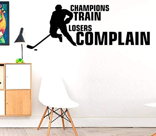 Kampioenen Trein Verliezers Complain - Hobby Play Check PlayWall Decal Muursticker Stickers Hockey Decal Muurstickers Stickers DIY Art