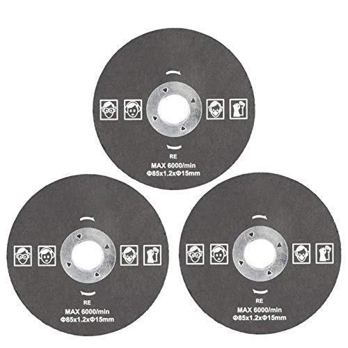 WNJ-Tools Hojas de Sierra de Herramienta de Corte de 85 mm para Herramienta de alimentación Hoja de Sierra Circular para Madera HSS Hoja de Sierra para Cortador de dremel Circular Mini Hoja de Sierra