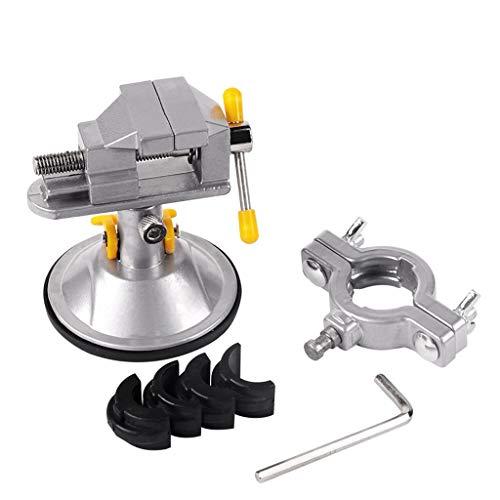 95sCloud Schraubstock Mini Tisch Schraubstock Werkbank Bankschraubstock- 30mm Spannweite - 360° drehbar - Sicheres Fixieren von Werkstücken - Maschinenhalterung/Tischschraubstock Aluminiumlegierung