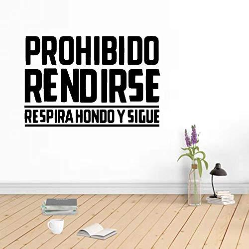 Papel pintado de la etiqueta engomada de la pared de la frase española caliente, etiqueta del vinilo de la habitación de la oficina Etiqueta engomada de la frase del dormitorio Mural del arte56x82cm
