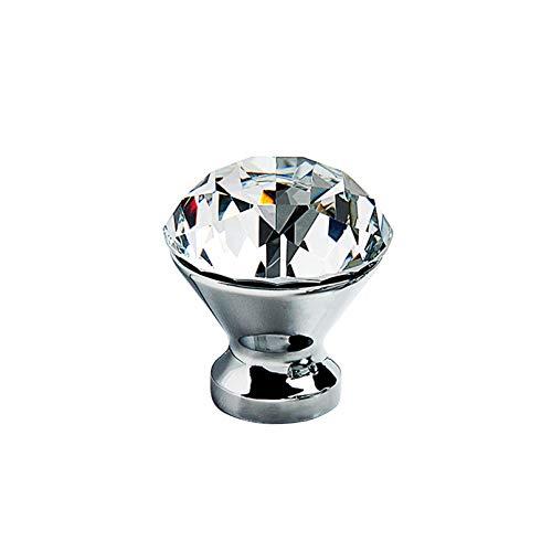 Pomos para Armario Cajón Perillas Cristal de Pomos Tiradores de Mueble Cajón de Dormitorio Tirador de Mueble Para Cocinas Oficina Cajones Gabinete(Single hole)