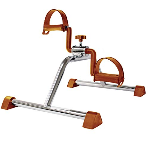 Vaunn Medical Pedal Exerciser (Silver with Copper), Fully Assembled Exercise Pedals for Arms and Legs