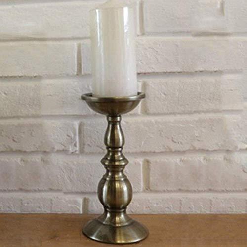 Ornamenten Kaarsenstandaarden Nordic Style kaarshouder Kandelaar smeedijzer kaarshouder Retro Metalen Kandelaar Woondecoratie Kandelaar (Kleur: D 10.5x22cm goud, Grootte: 1)