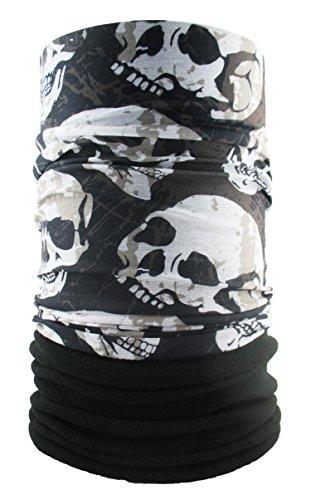 HeadLOOP Polar extra lang zwart doodskop fleece + slangdoek multifunctionele sjaal sjaal halsdoek hoofddoek microvezel