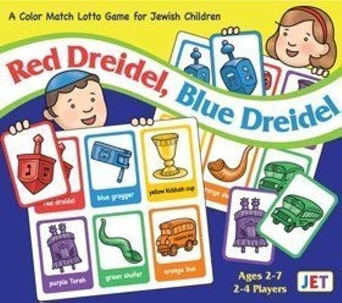 rouge Dreidel, bleu Dreidel Jewish Couleur Match Lotto Game by Jet