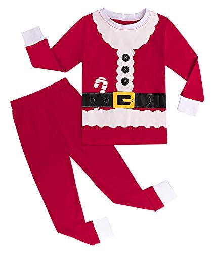 mintgreen Pijama Navidad Bebé Disfraz Papá Noel Niño Manga Larga Unisexo (Santa Claus, 12-18 Meses)