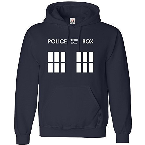 Doctor Who Police Box Hoodie, available in Kids and Adults sizes