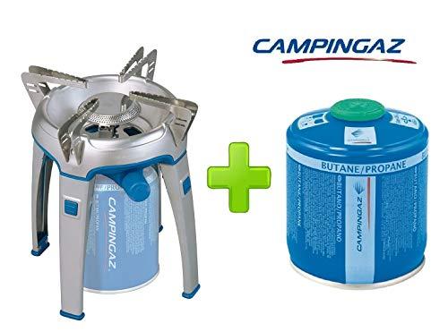 ALTIGASI Réchaud à gaz Bivouac Campingaz Puissance 2600 W avec Sac de Transport - Système de Cartouche Amovible + 1 Cartouche à gaz CV300 de 240 g