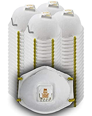 3M 8511 Particulate Disposable Respirator, N95, Grinding, Sanding, Sawing, Sweeping, Dust, Smoke, 80 Pack from 3M