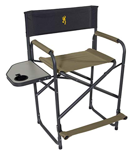 Browning Camping Directors Chair XT w/Side Table, Khaki, Model:8532921