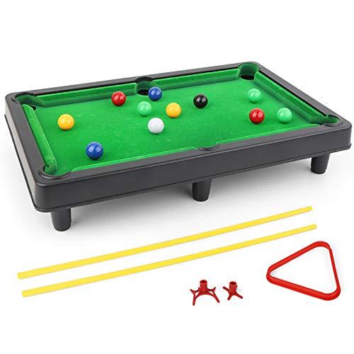 Tabletop Pool Set Billard Spiel Mini Billardtisch Indoor Sport Spielzeug Mit Kugelplatten Sticks Rahmen Bars Dreieck Rahmen Für Kinder Erwachsene