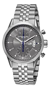 Raymond Weil Men's 7735-ST-60001 Freelancer Grey Chronograph Dial Watch image