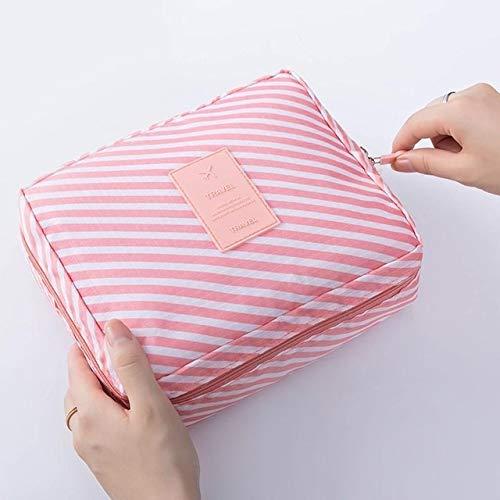 PoplarSun Sac cosmétique Voyage Multifonction Femmes Maquillage Sacs de Toilette Organisateur étanche Femme de Stockage Maquillage Multi Cas (Color : Pink)