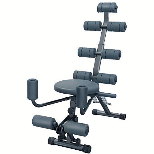 Todo en uno Fitness Abs Rocket Chair Abdominal Ajustable, Gym Entrenamiento de Entrenamiento Entrenador Ejercitador Crunches Machine Bench Home Gym