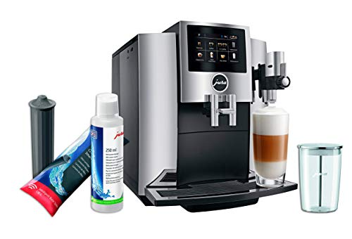 Best Prices! Jura S8 Automatic Coffee Machine Set with Smart Water Filter, Milk System Cleaner and M...