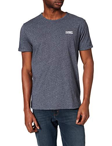 Tommy Hilfiger Modern Jaspe Camiseta, Azul (Black Iris 002), Large para Hombre