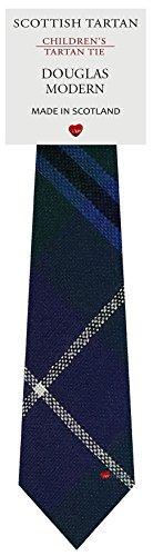 I Luv Ltd Garçon Tout Cravate en Laine Tissé et Fabriqué en Ecosse à Douglas Modern Tartan