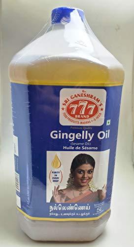777 Gingelly Oil 5 Liter Sesame Oil Huile De Sesame
