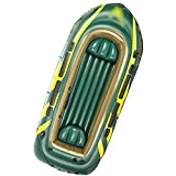 NEHARO Kayaks Barco de 4 Personas Que Inflable en Barco Kayak Adecuado para Actividades al Aire Libre fáciles de Llevar para la Playa (Color : Green, Tamaño : 351x145x48cm)