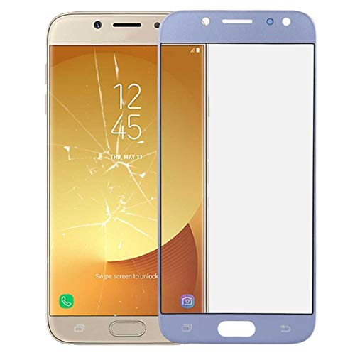 CHEZHAN -Front Screen Outer Glass Lens for Galaxy J7 (2017) / J730(Black)- Super Clear Film (Color : Blue)