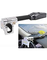 Krtopo Bloqueo Universal Antirrobo Auto del Volante del Coche con Llaves Alarma de Seguridad T-Lock Negro