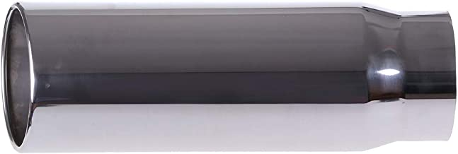 """ANPART 5"""" Inlet Exhaust Tip 5""""x6""""x18"""" Stainless Steel Exhaust Tailpipe 1 Exhaust Tips Bolts or clamp on"""