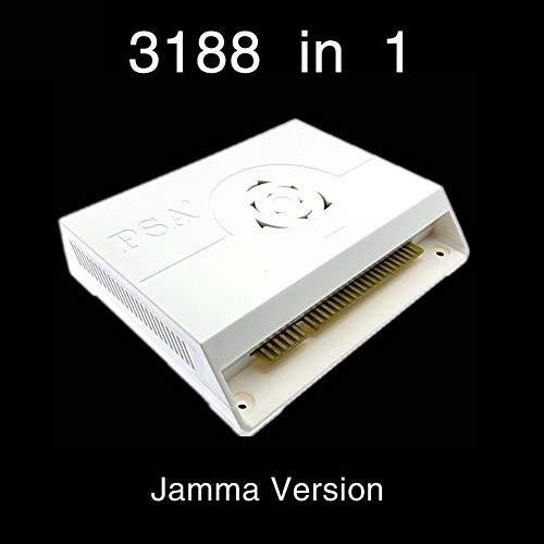 3188 in 1 Arcade Game Jamma Board für Pandora Saga Box, 12 Motherboard Rocker Coin Operated Jama28 Plug-in Game Board LCD-Bildschirm mit HDMI + VGA + 3,5 mm Audio-Schnittstelle