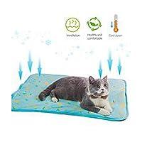 5犬猫冷却マットペット氷パッドテディマットレスペットクールマットベッド猫クッション夏保つクールペットゲル冷却犬マット-A-L