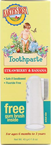 Earth's Best Toddler Toothpaste, Strawberry Banana, 1.6 Oz