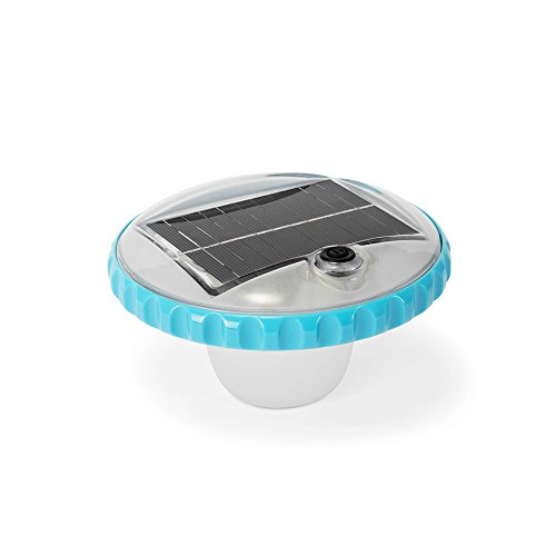 Intex Floating LED Pool Light, Solar Powered with Auto-On at Night