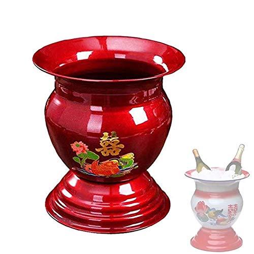 Cesta De Frutas Tradicional China De Los Años 60, Cuenco De Esmalte Para Decoración De Mesa De Comedor Y Cocina Antigua China, Soporte De Exhibición De Cuenco De Almacenamiento Big Red