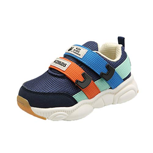 WZHKIDS Kids Boys Girls Adjustable Straps Sneakers Toddler Baby Athletic Shoes (Blue, Numeric_10_Point_5)