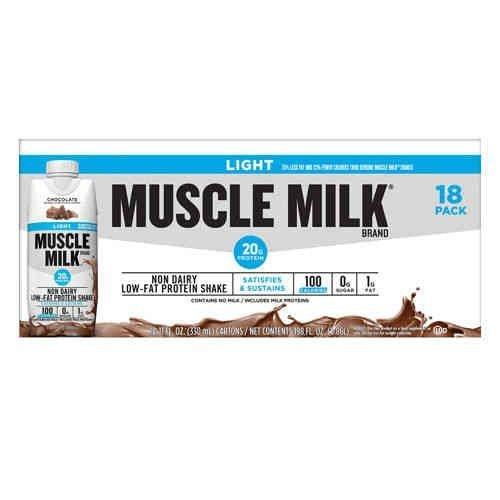 Muscle Milk Light Fertig-Shake, Schokolade, 325 ml (18 Stück)