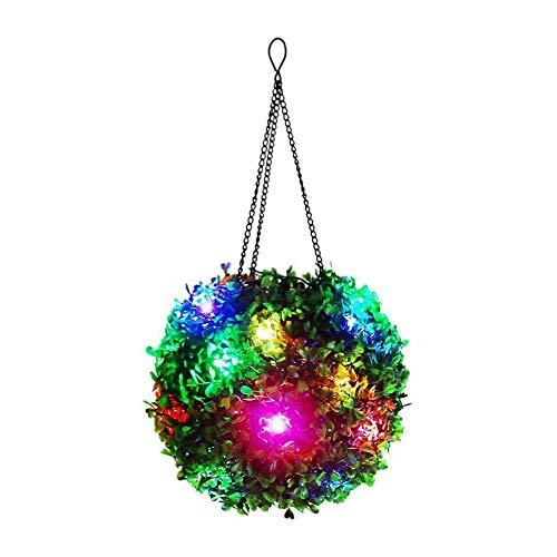 UNISOPH Luz LED de Navidad, Sepak Takraw Luz Colgante LED para Exteriores Cadena de Luces solares Bola Lámpara de luz Decorativa para jardín Parque Bar Fiesta
