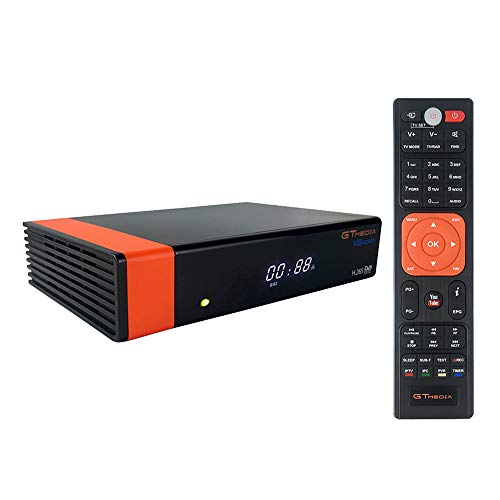 GT Media V8 Nova DVB-S2 Decodificador Satélite Receptor de TV Digital con Wi-Fi Incorporado/SCART / 1080P Full HD/FTA Soporte CC CAM, PVR Ready, Newcam, Youtube, PowerVu Dre Biss Clave