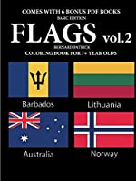 Coloring Books for 7+ Year Olds (Flags vol. 2)